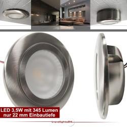 Möbel und Decken Einbauleuchte SALIDA LED 3,5W nur 22mm Einbautiefe DIMMBAR