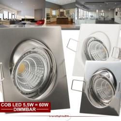 1-50x QUADROS mit 5,5W COB LED dimmbar 230V (4 Jahre GARANTIE) Einbauleuchte Einbauspot